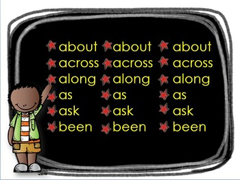 Sight Word Slideshow #3 for K or 1st Animated with Sound for Centers