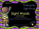 Sight Word Slideshow #3 for K or 1st Animated with Sound f