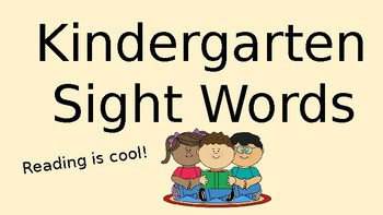 Sight Word Slideshow