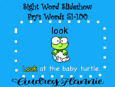 *FREEBIE* Sight Word Slideshow/PowerPoint, Fry Words 51-100