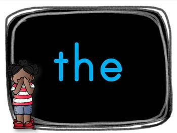 Sight Word Slideshow with 50 Kindergarten Level Words Animated with Sound