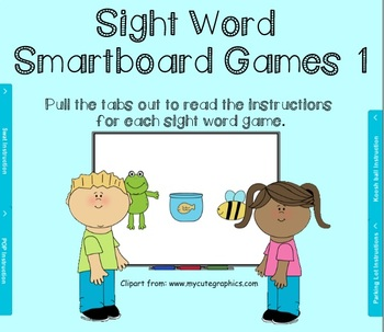 Sight Word Smartboard Games set 1