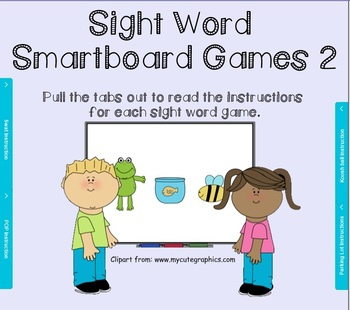 Sight Word Smartboard Games set 2