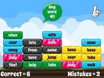 Sight Word Smash - Playable at RoomRecess.com (Free!)