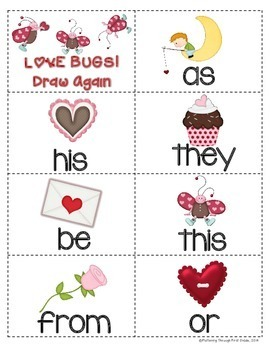 """Sight Word Activities """"Sight Word Smooch"""" - Sight Words Reading Game"""