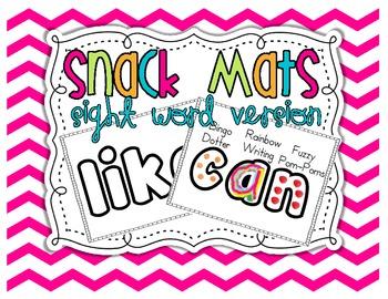 Sight Word Snack Mats {52 mats}