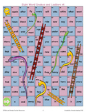Sight Word Snakes and Ladder Board