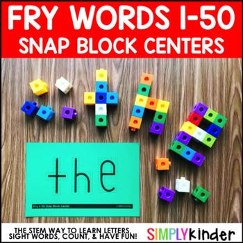 Snap Block Center, Sight Words, Fry