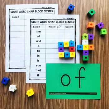 Snap Block Center - Fry Words 1-50