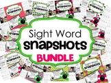 Sight Word Snapshot BUNDLE - Sentence Writing Fluency mini-books -  GREAT VALUE