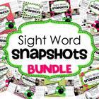 Sight Word Snapshot BUNDLE - Sentence Writing Fluency mini