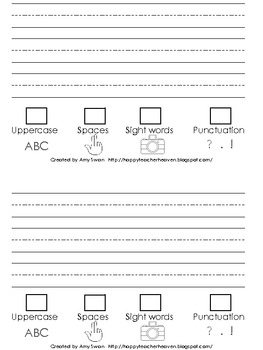 "Sight Word Snapshot - ""Can you FIND it?"" Sentence Writing Fluency mini-book"