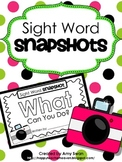 Sight Word Snapshot FREEBIE - WHAT Can You Do? - Sentence Writing Fluency