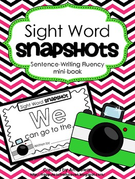 "Sight Word Snapshot - ""WE can go to the..."" Sentence Writi"