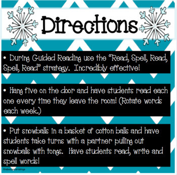 Sight Word Snowball Fight (Fast Assessment Flash Cards Words 1-50)
