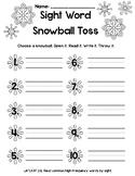Sight Word Snowball Toss