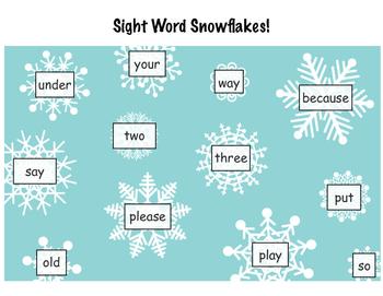 Sight Word Snowflakes