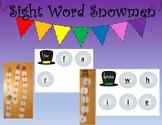 Sight Word Snowmen