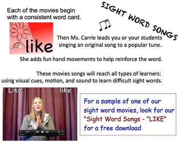 Sight Word Songs Collection 1 (A, I, & MY)