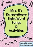 Sight Word Songs and Activities