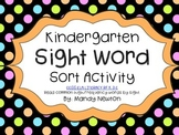 Sight Word Sort Activity FREE