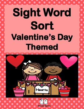 Sight Word Sort Valentine's Day Themed