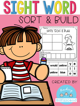 Sight Word Sort and Build (Pre-Primer)