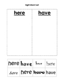 Sight Word Sort here vs. have Freebie Sample