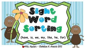 Sight Word Sorting