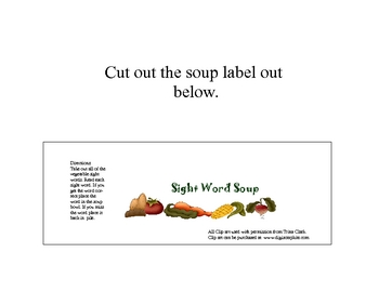 Sight Word Soup