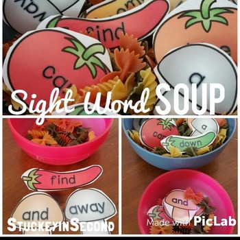 Sight Word Soup {Dolch: Pre-Primer-Grade 3)