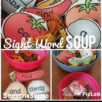 Sight Word Soup {Dolch: Pre-Primer-Grade 3)