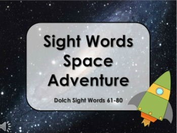 Sight Word Space Adventure
