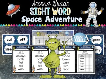 Sight Word Space Adventure RTI Toolkit (Second)