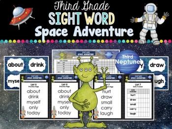 Sight Word Space Adventure RTI Toolkit (Third)