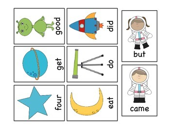 Sight Word Space Smash (Dolch Primer List)