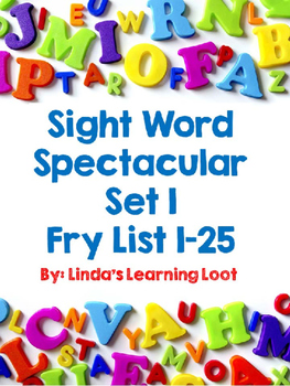 Sight Word Spectacular: Fry Words Set 1 Printables