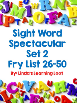 Sight Word Spectacular: Fry Words Set 2 Printables