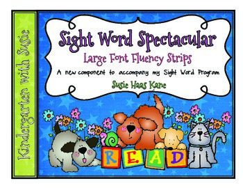 Sight Word Spectacular Large Font Fluency Sentences
