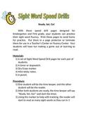 Sight Word Speed Drills Fluency Pracitce