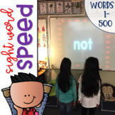 Sight Word Games of Speed for Sight Words 1-500 {Editable}