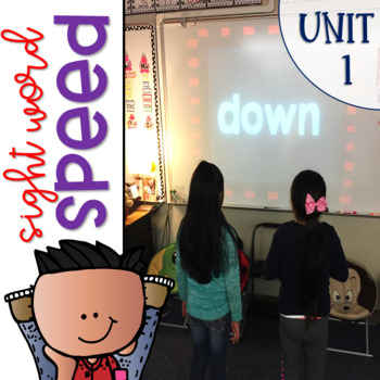 Sight Word Games of Speed 1st grade Unit 1 {Editable}