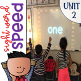 Sight Word Games of Speed 1st grade Unit 2 {Editable}