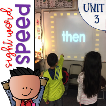 Sight Word Games of Speed 1st grade Unit 3 {Editable}