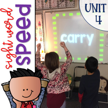 Sight Word Games of Speed 1st grade Unit 4 {Editable}