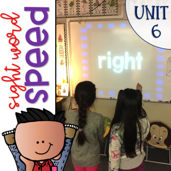 Sight Word Games of Speed 1st grade {Unit 6}