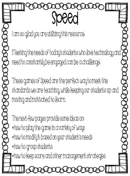 Sight Word Games of Speed 1st grade Unit 6 {Editable}