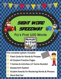 """""""Sight Word Speedway"""" Complete Year's System for FRY's FIRST 100 Words"""