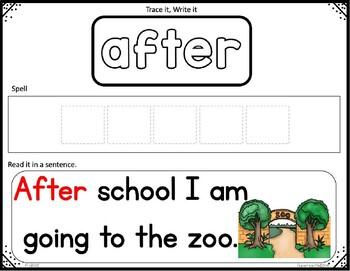 Sight Word Spelling 1st Grade Cards