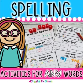 Sight Word Spelling Practice Activities For ANY Words Perfect for Young Learners